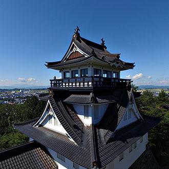 秋田県横手市 横手城のドローン空撮